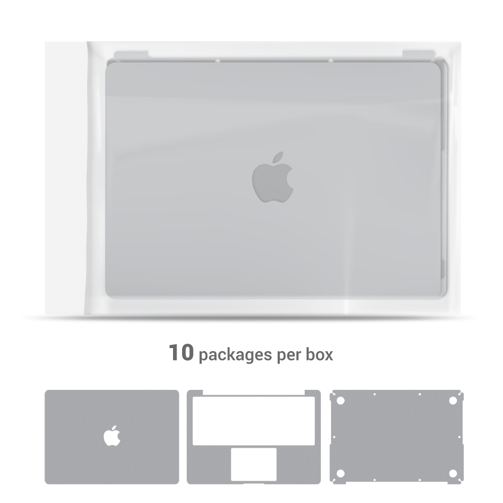 Skin - Full body for Macbook Pro 15'' 2012-2015 (10 packages)
